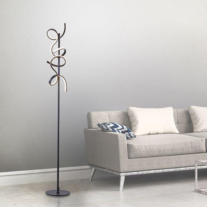 Designerska-lampa-podłogowa-czarna-z-diodą-LED-i-ściemniaczem---Krisscross