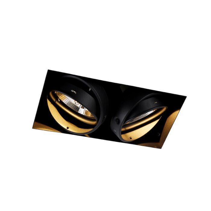 Oprawa-do-wbudowania-czarna-2-źródła-światła-GU10-AR111-Trimless---Oneon