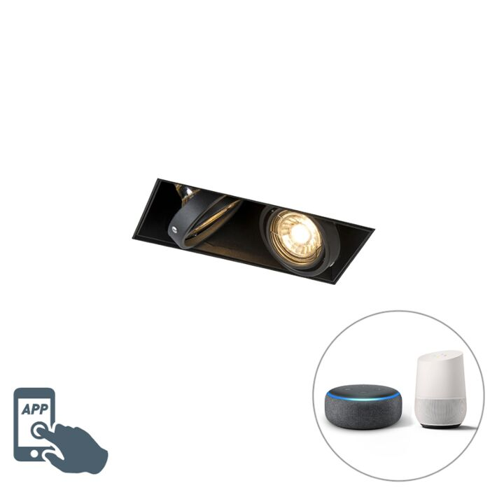 Oprawa-do-wbudowania-czarna-bez-ramki-2-źródła-światła-GU10-WiFi---Oneon