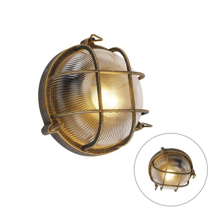Kinkiet/-Plafon-okrągły-mosiądz-IP44---Noutica
