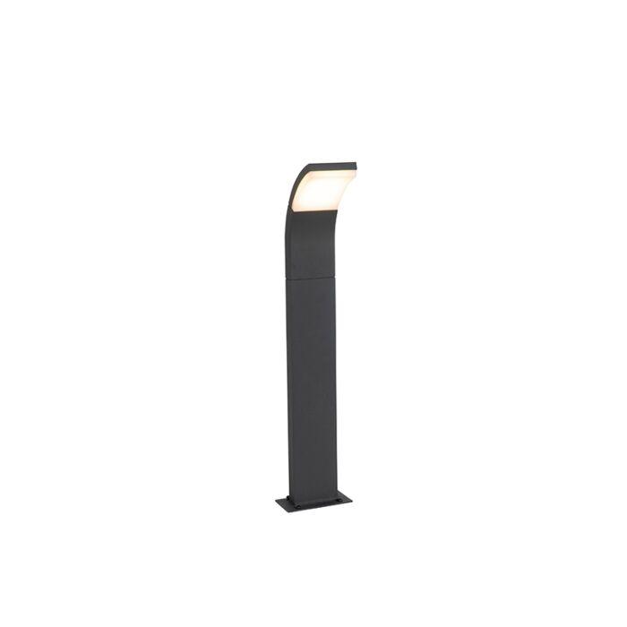 Nowoczesny-słupek-zewnętrzny-szary-w-tym-LED-IP54---Litt