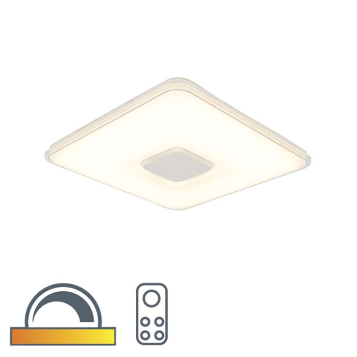 Kwadratowa-lampa-sufitowa-z-pilotem-przyciemnianym-do-ciepłego-LED---Seul