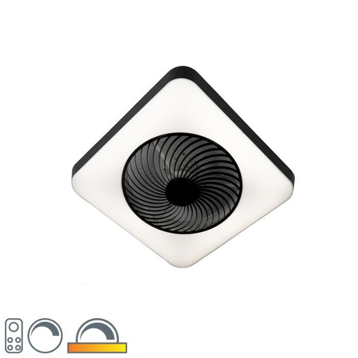 Wentylator-sufitowy-kwadratowy-czarny-LED-ściemnialny---Climo