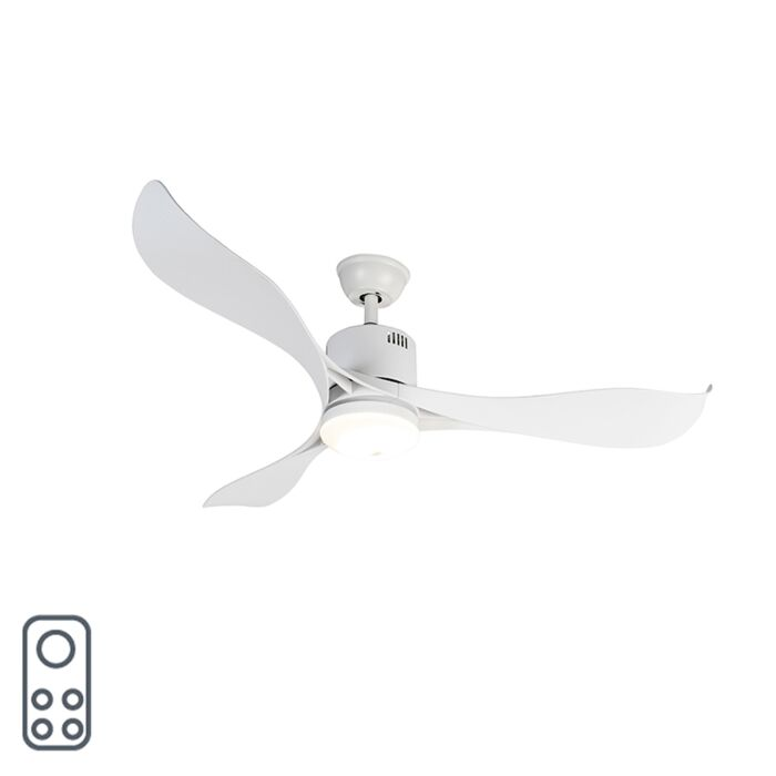 Wentylator-sufitowy-biały-z-diodą-LED-i-pilotem---Kolm