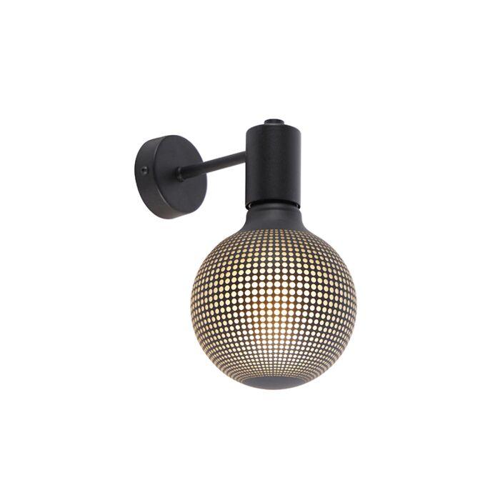 Industrialny-kinkiet-czarny-żarówka-DECO-E27-G125-100lm---Facil