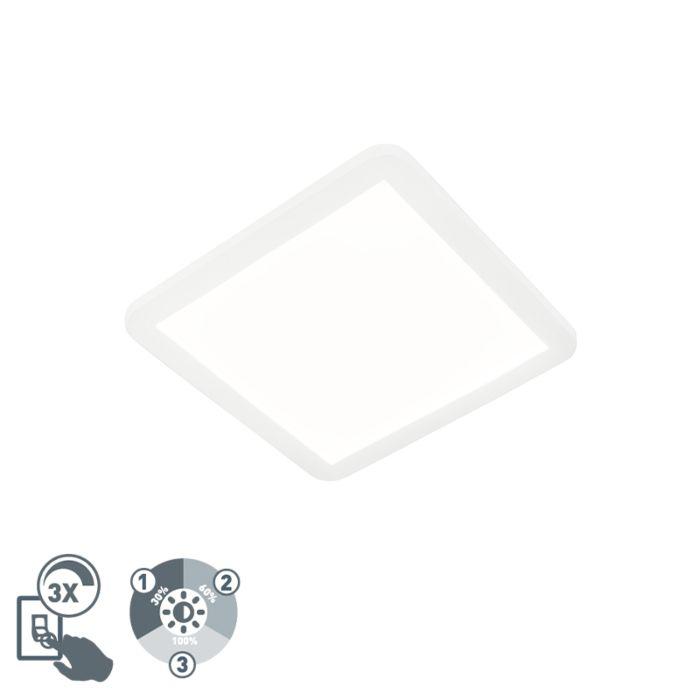 Plafon-biały-30cm-IP44-3-stopniowe-ściemnianie-LED-2700K---Steve