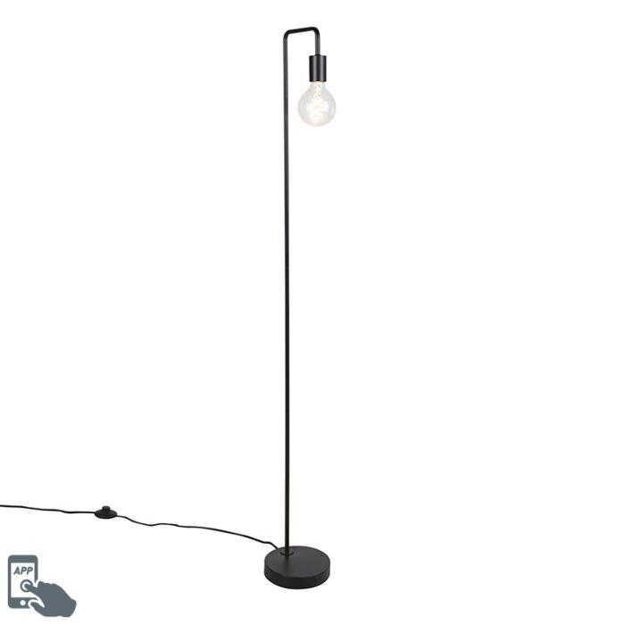 Inteligentna-lampa-podłogowa-czarna-z-WiFi-G125---Facil