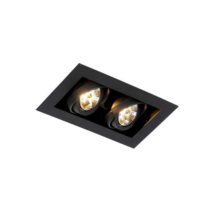 Nowoczesna-wpuszczana-czarna-lampa-2-punktowa-regulowana---Oneon-70