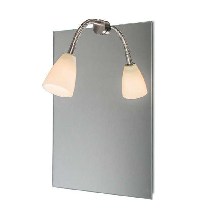 Oświetlenie-lustra-Curvus-stal