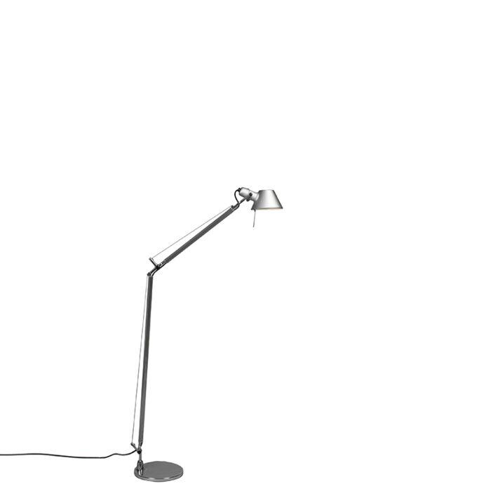 Lampa-podłogowa-aluminium-regulowana---Artemide-Tolomeo-Lettura