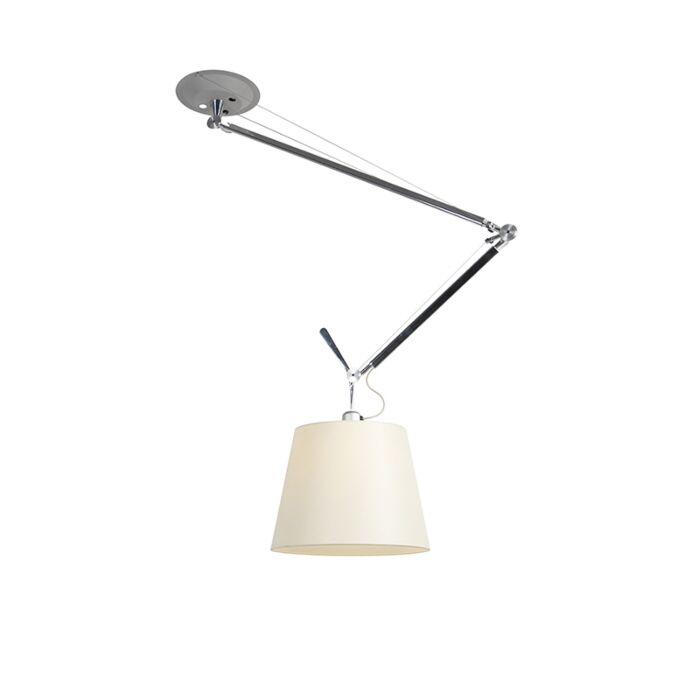 Designerska-lampa-wisząca-z-kloszem---Artemide-Tolomeo-Sospensione-Decentrata