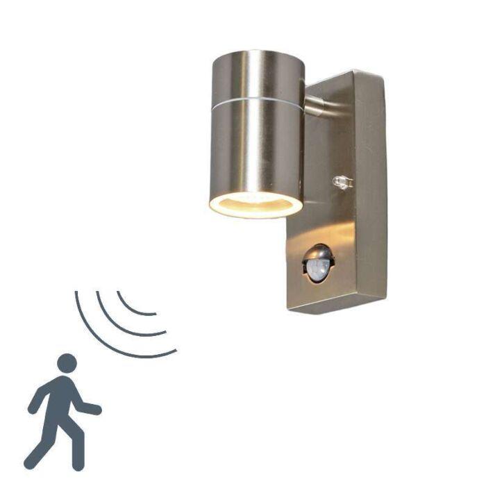 Lampa-zewnętrzna-Solo-stal-z-czujnikiem-ruchu-na-podczerwień