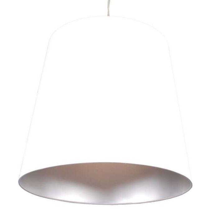 Lampa-wisząca-Shade-biało-srebrna
