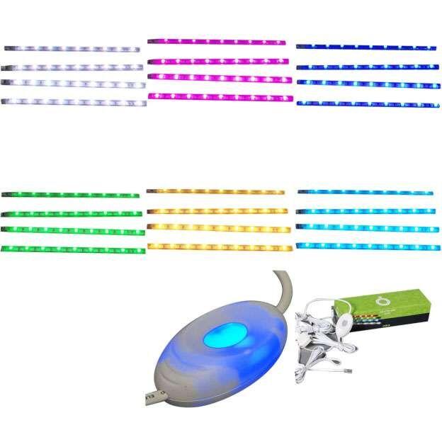Zestaw-czterech-taśm-LED-RGB