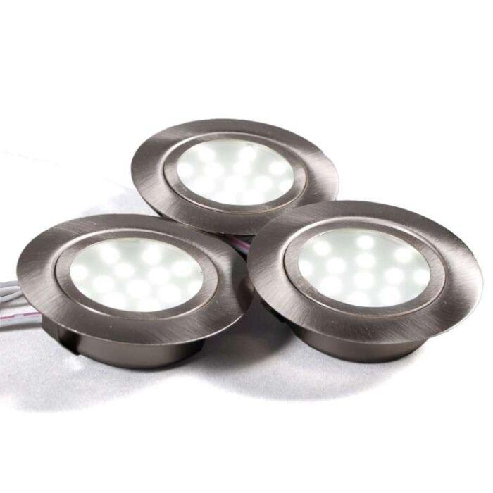 Cabinet-zestaw-opraw-do-wbudowania-3-x-LED-stal