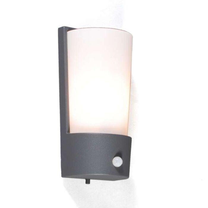 Lampa-zewnętrzna-Laval-czujnik-ruchu-na-podczerwień-grafit