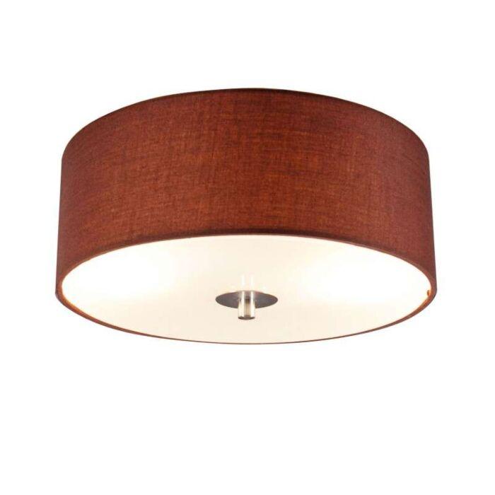 Plafon-Drum-30-okrągły-brązowy