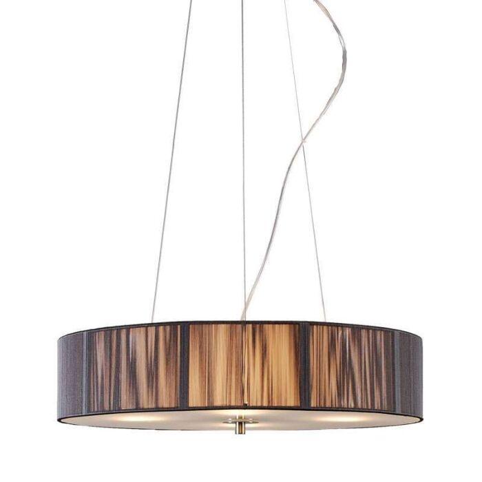 Lampa-wisząca-Drum-Rope-okrągła-50-antracyt