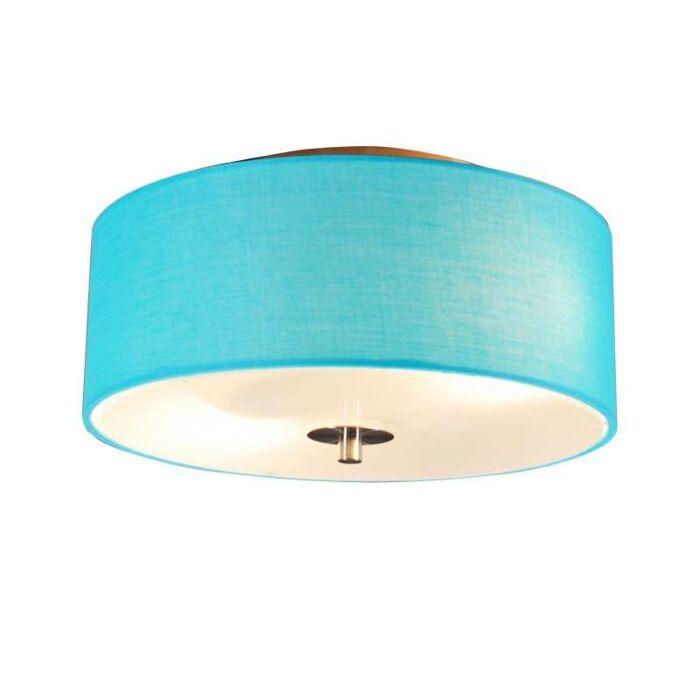 Plafon-Drum-3-okrągły-morski-niebieski