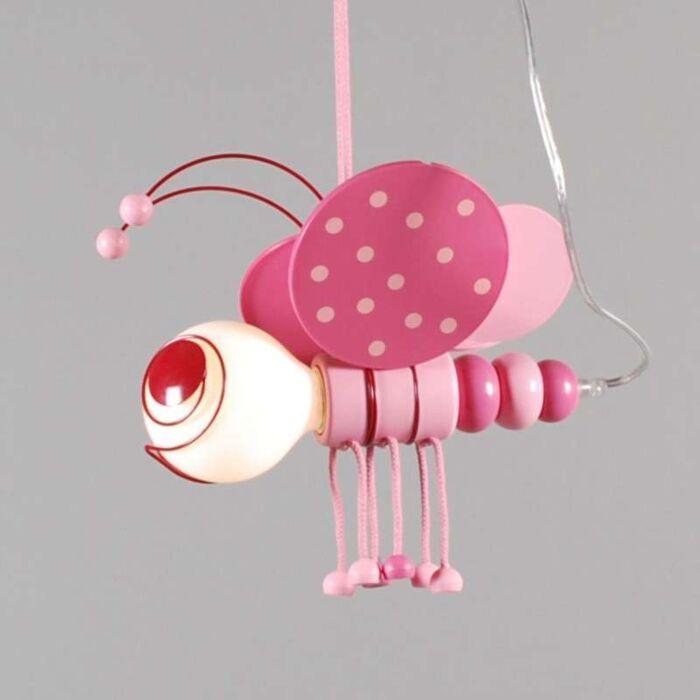 Lampa-wisząca-Kids-Bee-różowa