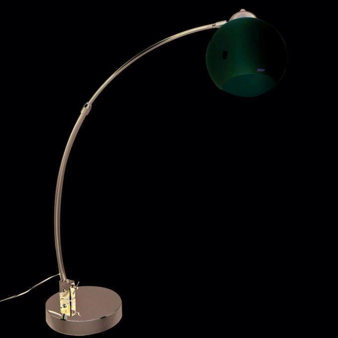 Lampka-podłogowa-łuk-chrom-biały