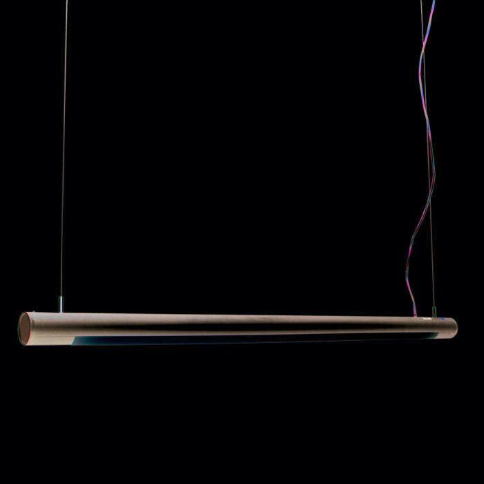 Lampa-wisząca-Tube-O-srebrna-28W