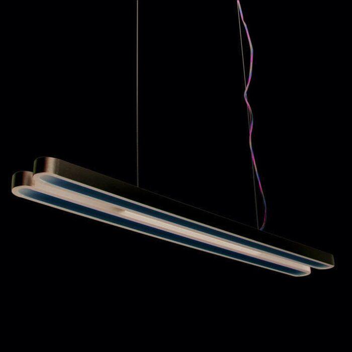 Lampa-wisząca-Tube-U-Double-28W-srebrna