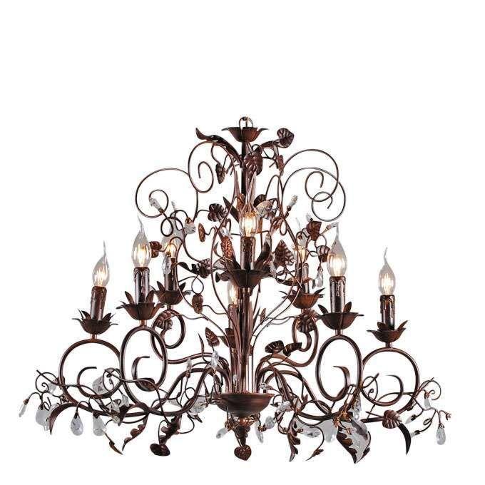 Żyrandol-Romance-5+3-źródeł-światła-antyczny-brąz