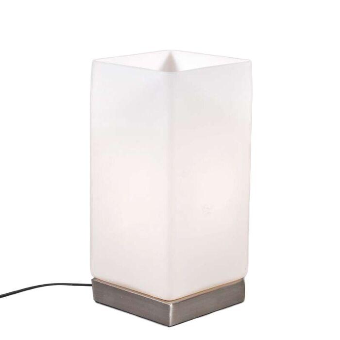 Lampa-stołowa-Accu-stal-białe-szkło