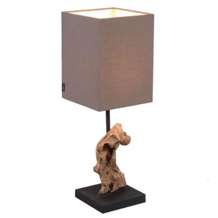 Lampa-stołowa-Vamida-brązowy-klosz