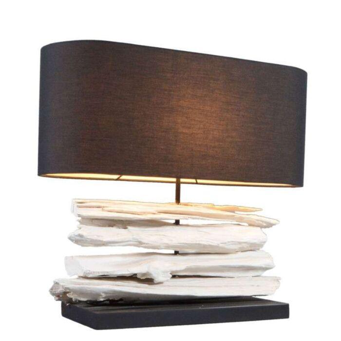 Lampa-stołowa-Satun-średnia-biała-z-czarnym-kloszem