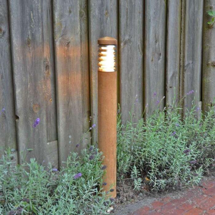 Lampa-zewnętrzna-Pole-70-drewno-tekowe