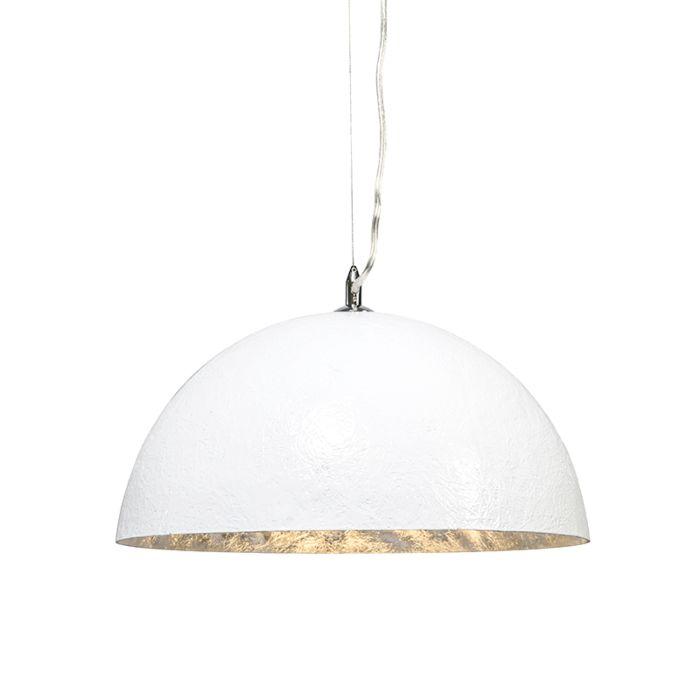Lampa-wisząca-Magna-40-biało-srebrna