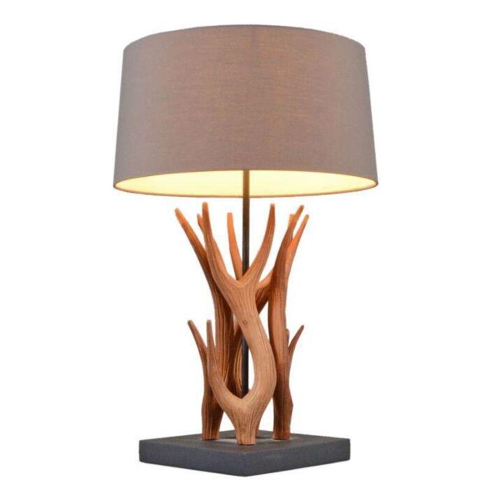 Lampa-stołowa-Yindee-naturalna-brązowy-klosz