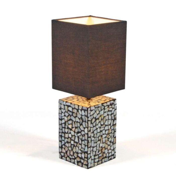 Lampa-stołowa-Pearl-czarny-klosz