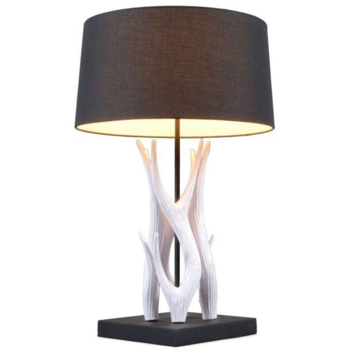 Lampa-stołowa-Yindee-biała-z-czarnym-kloszem