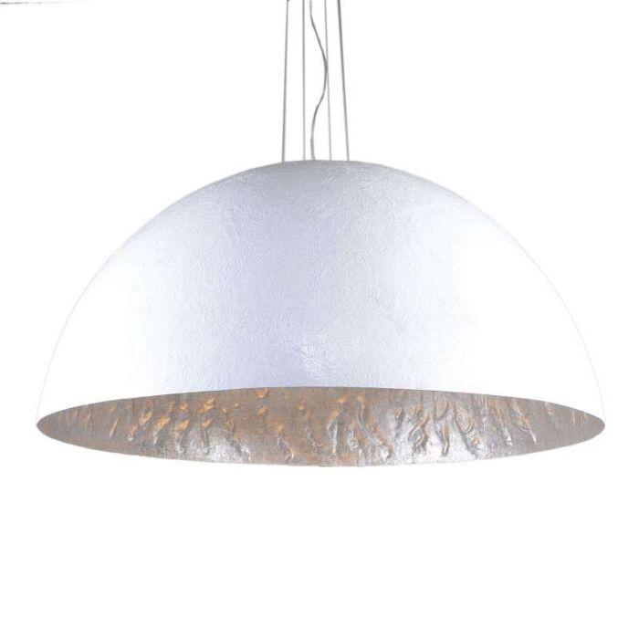 Lampa-wisząca-Magna-120-biało-srebrna