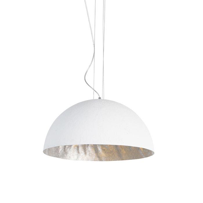 Nowoczesna-lampa-wisząca-biała-50cm---Magna