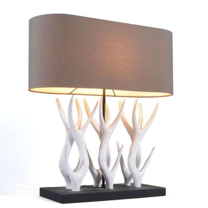 Lampa-stołowa-Yindee-Recta-brązowy-klosz