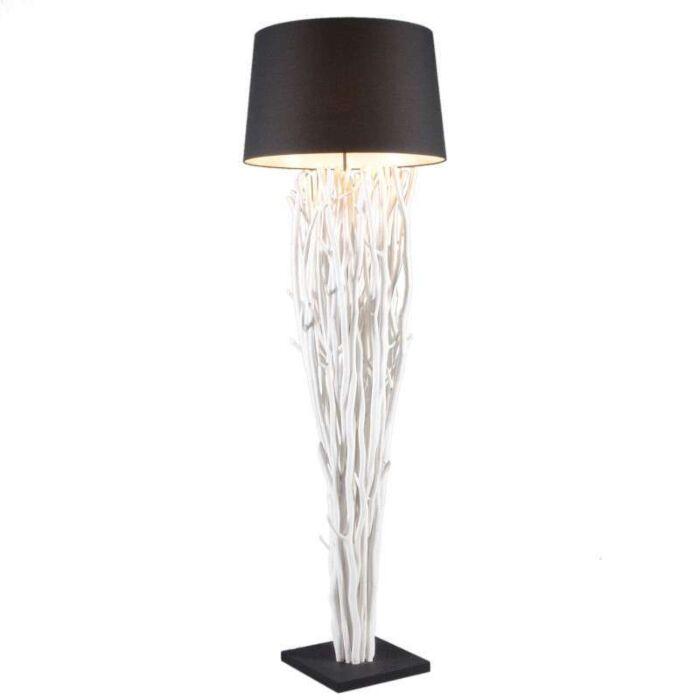 Lampa-podłogowa-Phatom-bielona-z-czarnym-kloszem