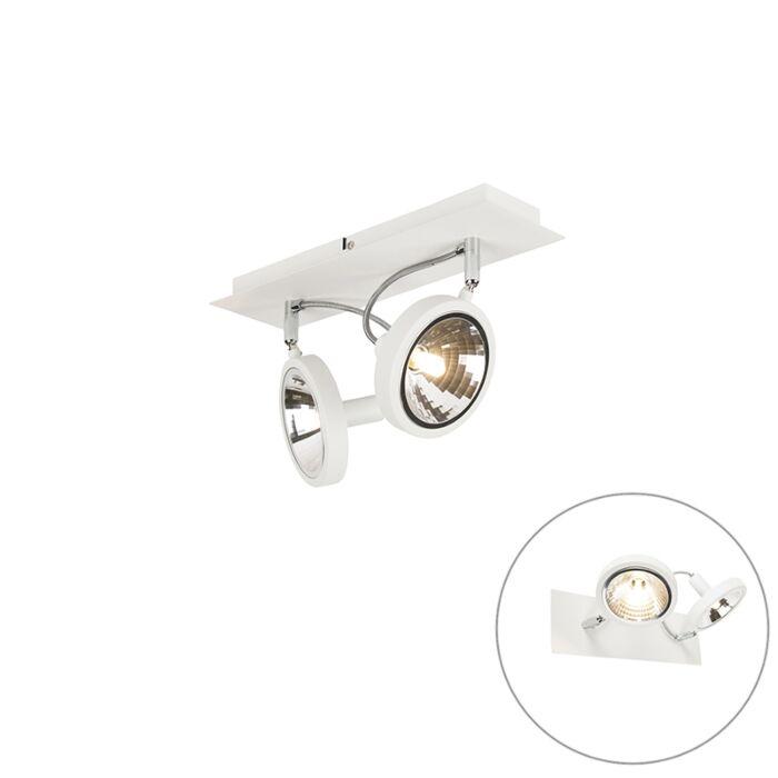 Designerski-spot-biały-regulowany-2-źródła-światła---Nox
