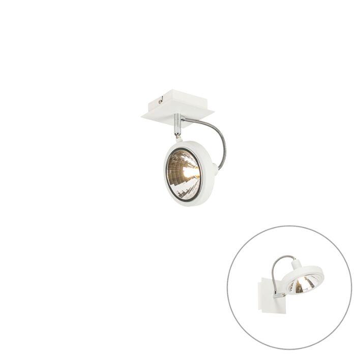 Designerski-spot-biały-regulowany-1-źródło-światła---Nox