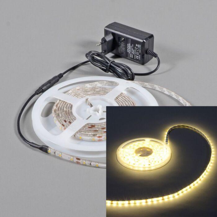 Elastczna-taśma-LED-barwa-ciepło-biała-IP65-5-metrów