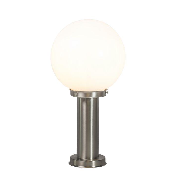 Nowoczesna-lampa-zewnętrzna-słup-stal-nierdzewna-50-cm---Sfera