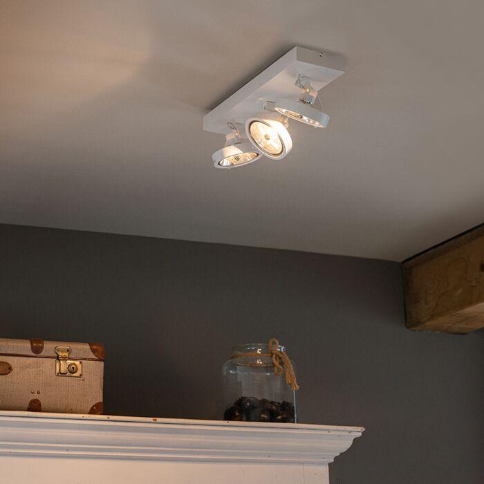 Designerski-spot-regulowany-biały-LED-3-źródła-światła---Go