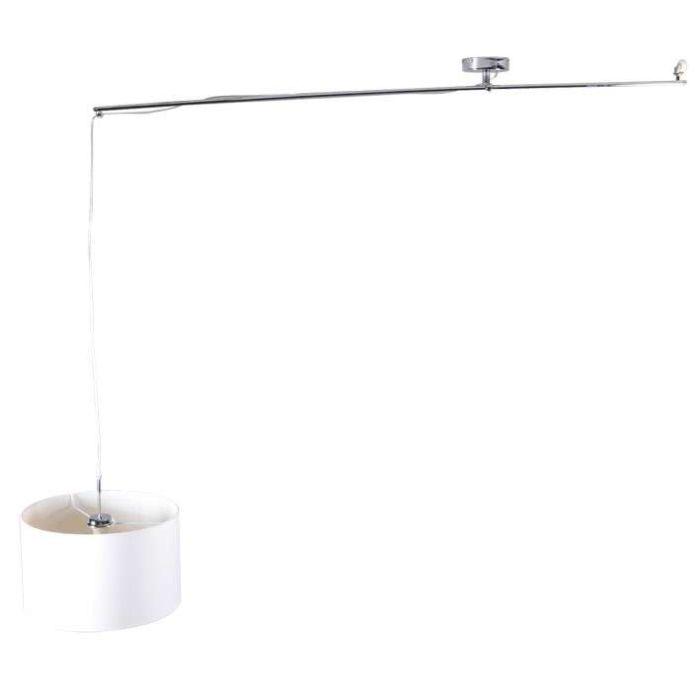Lampa-wisząca-Decentra-Delux-chrom-z-kloszem