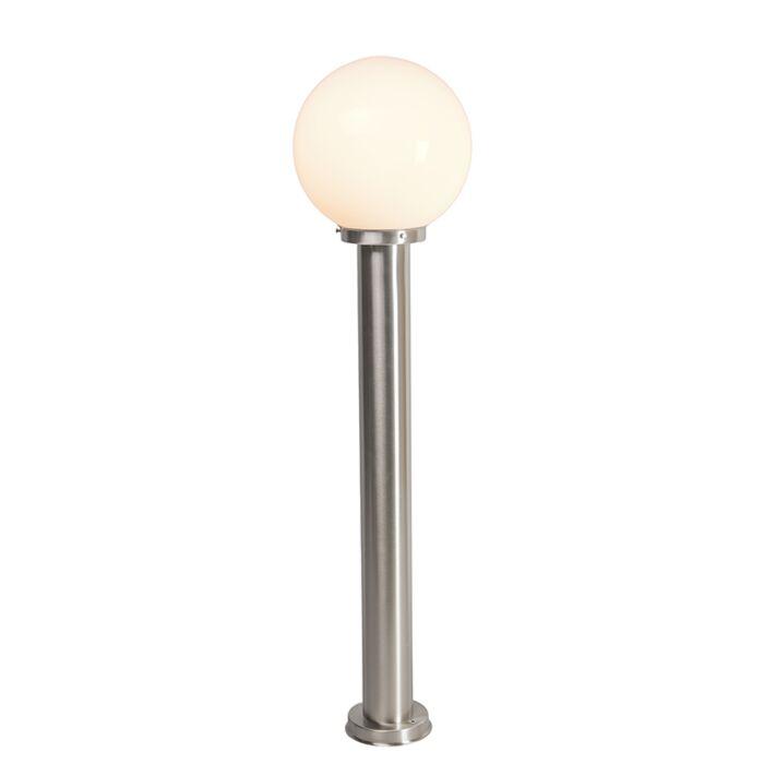 Nowoczesna-lampa-zewnętrzna-słup-stal-nierdzewna-100-cm---Sfera