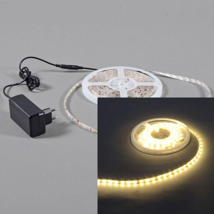 Elastczna-taśma-LED-barwa-ciepło-biała-IP65-3-metry