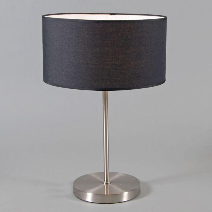 Lampa-stołowa-Lugar-stal-czarny-klosz