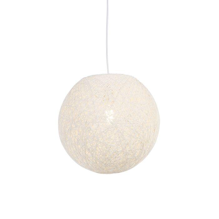 Rustykalna-lampa-wisząca-biała-35cm---Corda